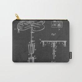 1901 Artist's Palette Vintage Patent Print Carry-All Pouch