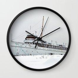 SS Keewatin in Winter White Wall Clock