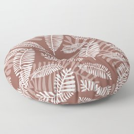 Palm Fronds . Rustic Rose Floor Pillow