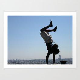 Handstand Over Paris Art Print