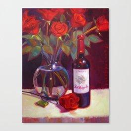 Black Cherry Bouquet Canvas Print