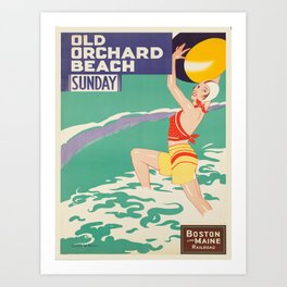 Vintage poster - Old Orchard Beach Art Print