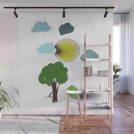 Sunny Day 3D Paper Craft Wall Mural