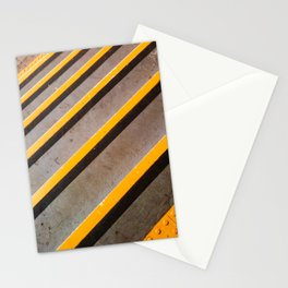 Yellow Lines Stationery Cards