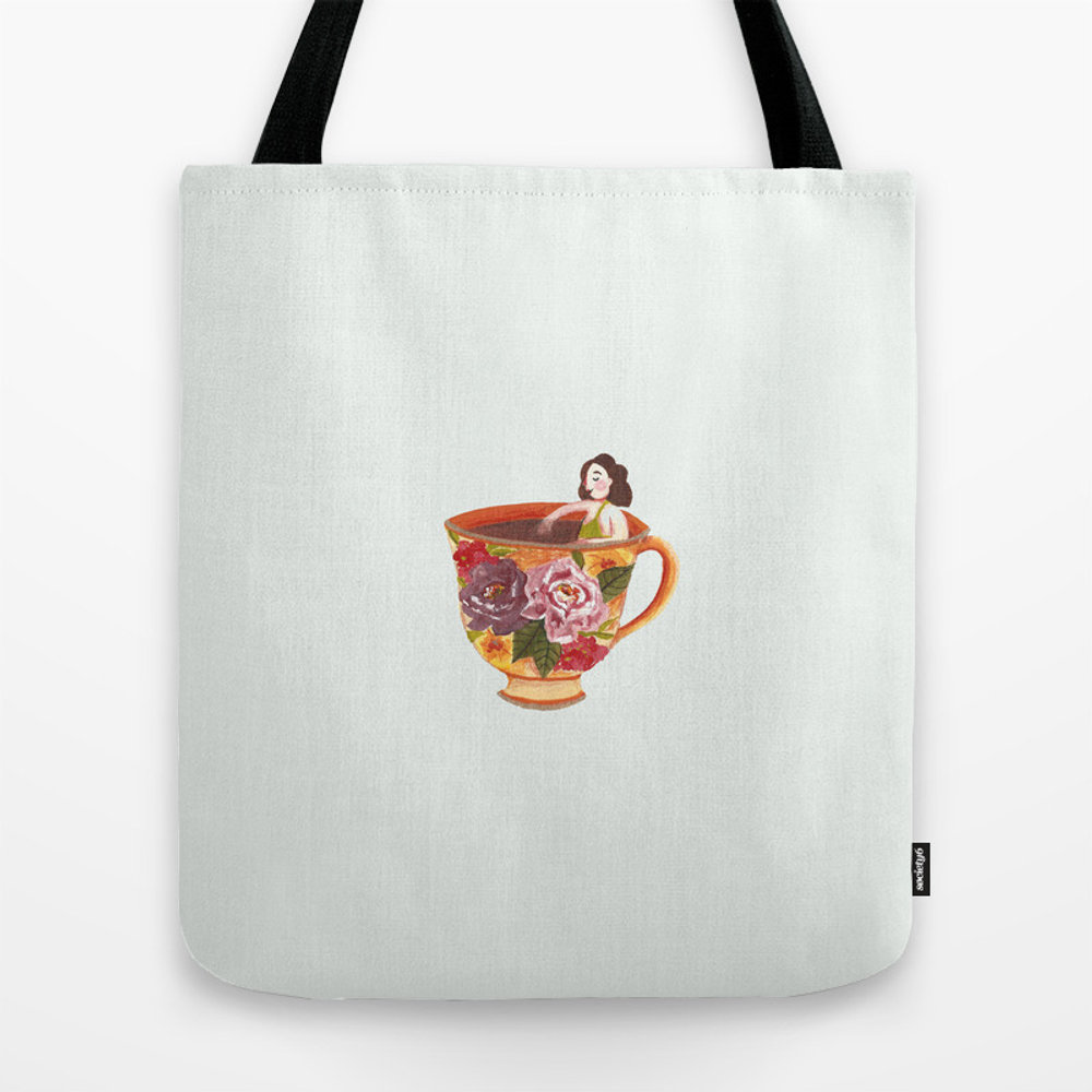 Girl In Teacup Tote Purse by Bolynn (TBG9581718) photo