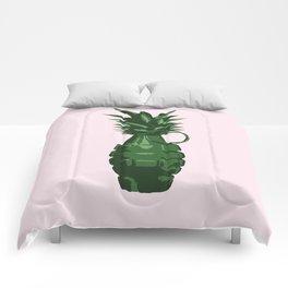 Pineapple Grenade (Pink) Comforters