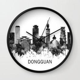 Dongguan China Skyline BW Wall Clock