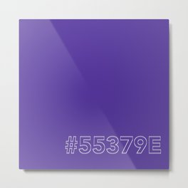#5539E [hashtag color] Metal Print