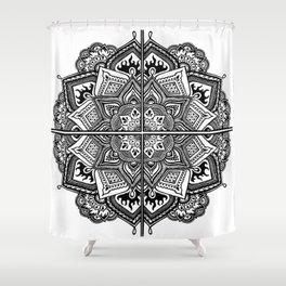 Mandala Fleur Shower Curtain