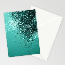 Sparkling Turquoise Lady Glitter #1 #shiny #decor #art #society6 Stationery Cards