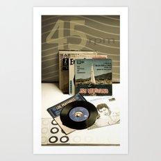 45 rpm. Art Print