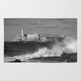 Black and White Morro Castle Rug