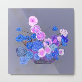 The arrangement in blue Metal Print