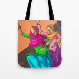 Punjabi girls Giddah Tote Bag