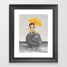 And It Poured Framed Art Print