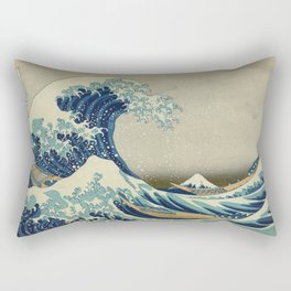 Vintage poster - The Great Wave Off Kanagawa Rectangular Pillow