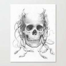 Medusa Skull Canvas Print