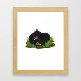 sleepy bears Framed Art Print
