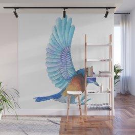 Cute Colorful Bird Watercolors Illustration Wall Mural