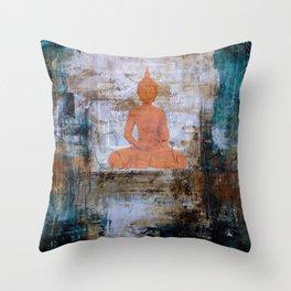 Buddha Mandala Throw Pillow