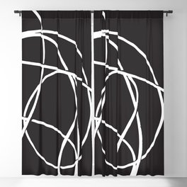 abstract line Blackout Curtain