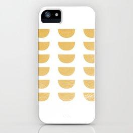 Lena Gold Half Moon Abstract iPhone Case