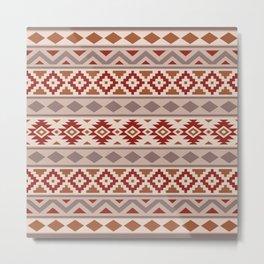 Aztec Essence Ptn IIIb Taupe Creams Terracottas Metal Print