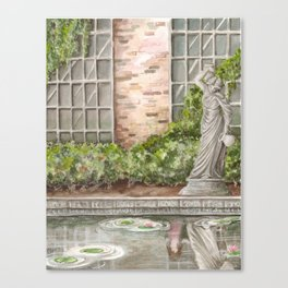 What Happens in the Garden Canvas Print