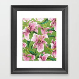 Tiger Lily Framed Art Print