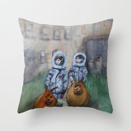 Space Cadets Old Glasgow Throw Pillow