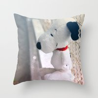 snoopy Throw Pillows featuring Snoopy by UliD