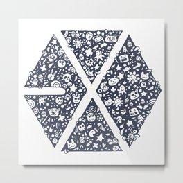 Exo Toon Metal Print