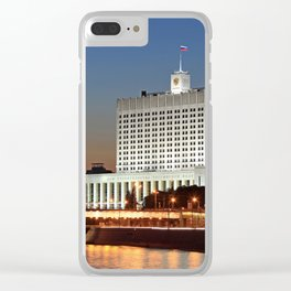 The White House. Moscow. Clear iPhone Case