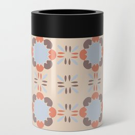 Blue Retro Tile Can Cooler