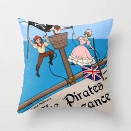 Pirates of Penzance Poster Throw Pillow