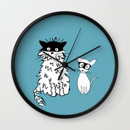 Ninja cats Wall Clock