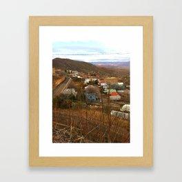 Hillside View Framed Art Print