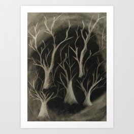 Smokey Trees Art Print