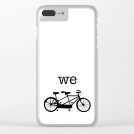 We-Tandem Clear iPhone Case