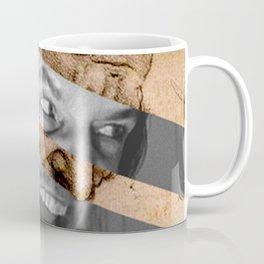 Leonardo da Vinci's Head for The Battle of Anghiari & Jack Nicholson Canvas Coffee Mug