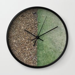 Grass and Mulch Wall Clock