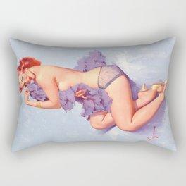 Pin Up Girl Roxanne by Gil Elvgren Rectangular Pillow
