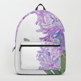 purple pink hyacinth watercolor Backpack