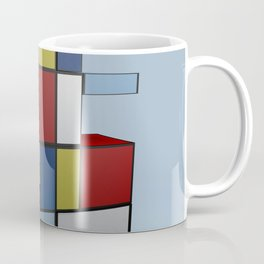 Composition with Red Blue and Yellow Coffee Mug