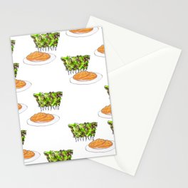 afternoon tea in bushes with cookies Stationery Cards