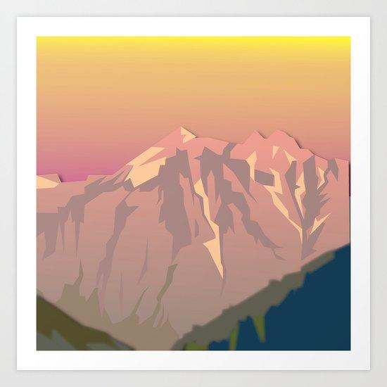 Night Mountains No. 47 Art Print