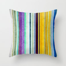 Colorful Stripes of Texture Throw Pillow