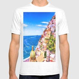 Colorful Positano Italy T-shirt
