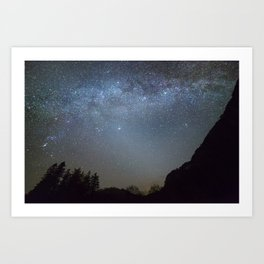 The Milky Way from Scotland Art Print