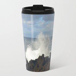 Sea Spray On A Lava Shoreline Travel Mug